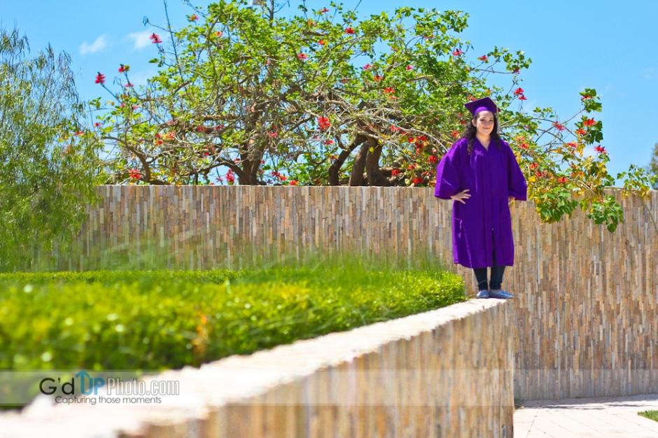 Rainye's Graduation Announcement Photo Session at Cerritos Sculpture Garden