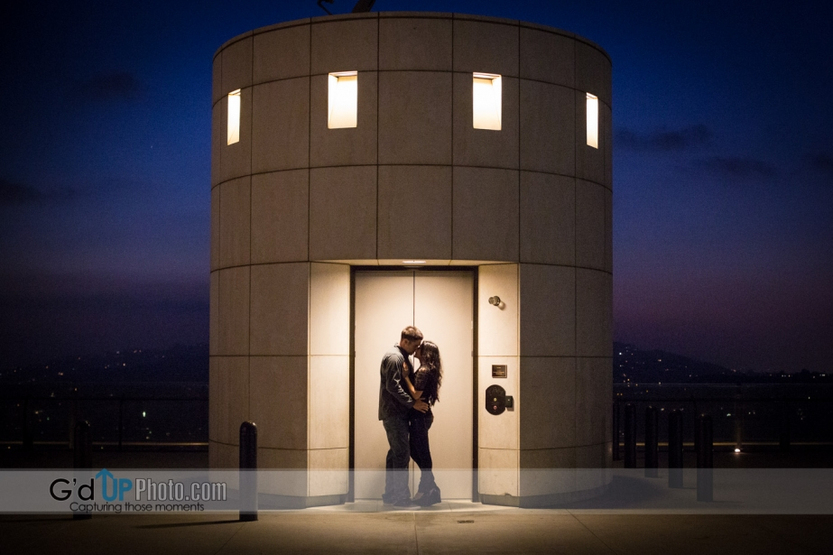 Andrea + Shane E-Session at the Cerritos Sculpture Garden and Griffith Observatory