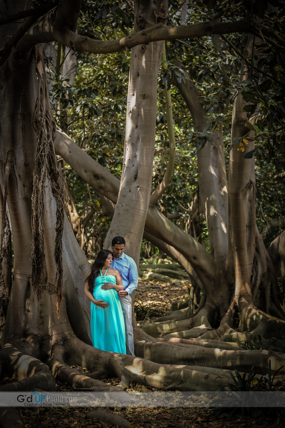Laura and Eduardo Maternity Shoot at South Coast Botanic Gardens
