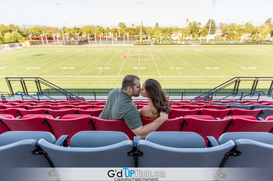 Kristine + Kevin Engagement Session at Chapman University