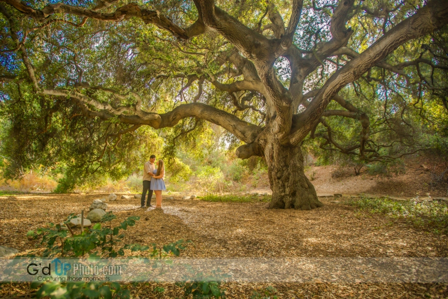 Krista and Jonathan's Engagement Session at Santa Ana Botanical Gardens