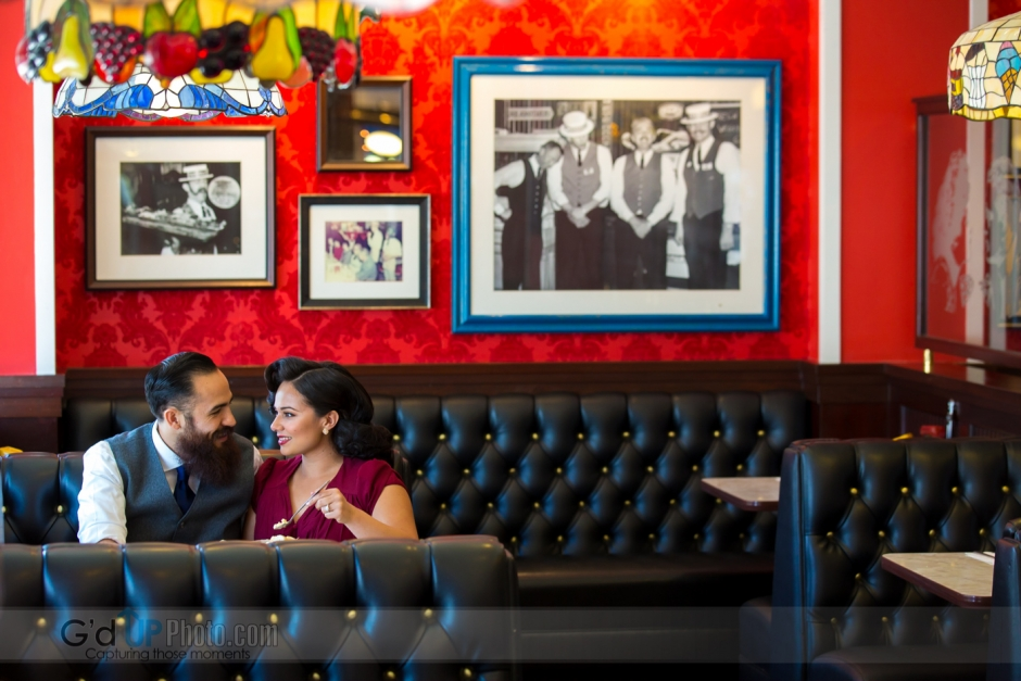 Lucy and Vincent's Farrell's Ice Cream Parlour Engagement Session