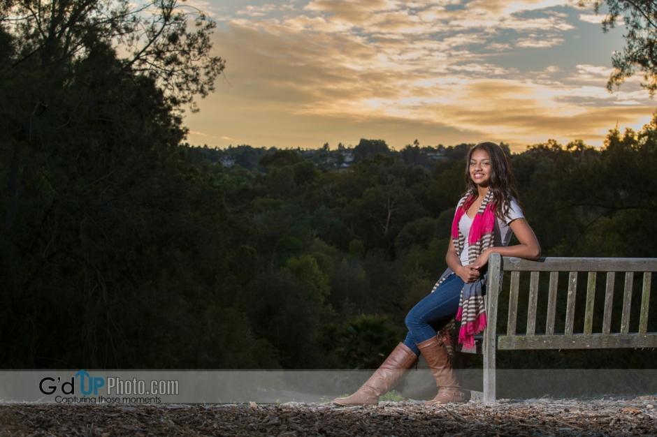 Celeste's Pre Quinceñera Photo Shoot at South Coast Botanic Gardens