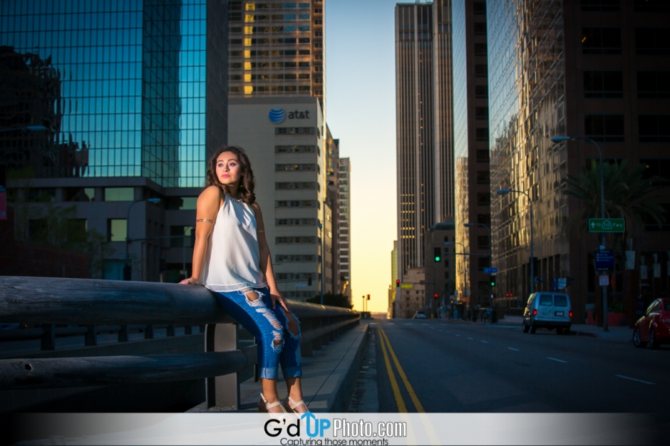 Allysa's Pre-Quinceañera Photo Session at Disney Concert Hall and Downtown L.A.