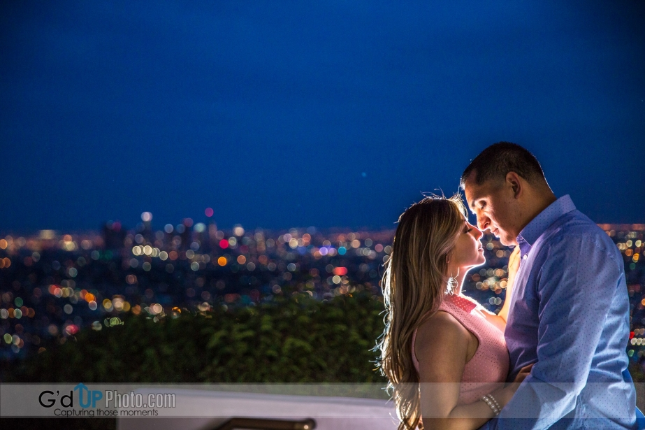 The Engagement Photo session of Nancy and Jesse at Griffith Observatory
